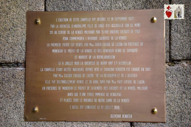 Nouvelle Plaque Commémorative pour les 50 ans de la chapelle du Mont des Alouettes