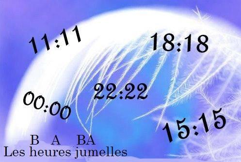 LES HEURES JUMELLES ET LEUR SIGNIFICATIONS SPIRITUELLES