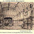 Nantes ancien - Intérieur chapelle St-Thomas