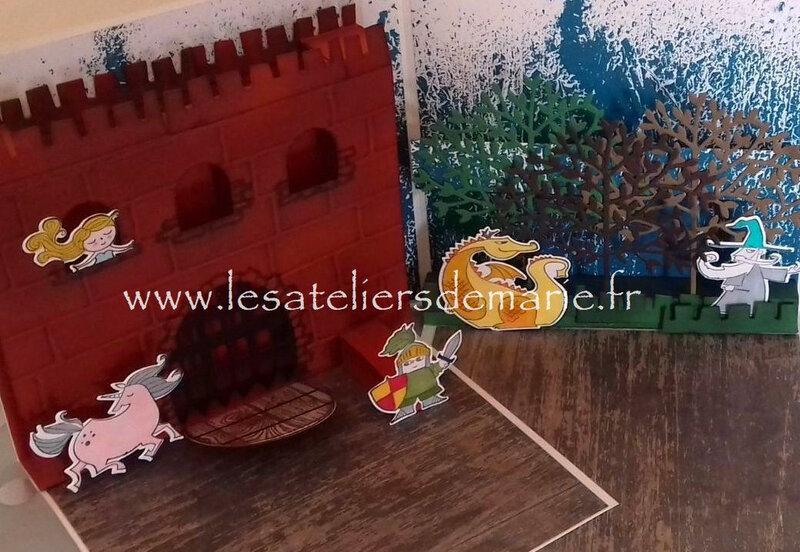 Château, dragon et forêt magique blog