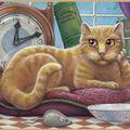 Méditation d'un chat