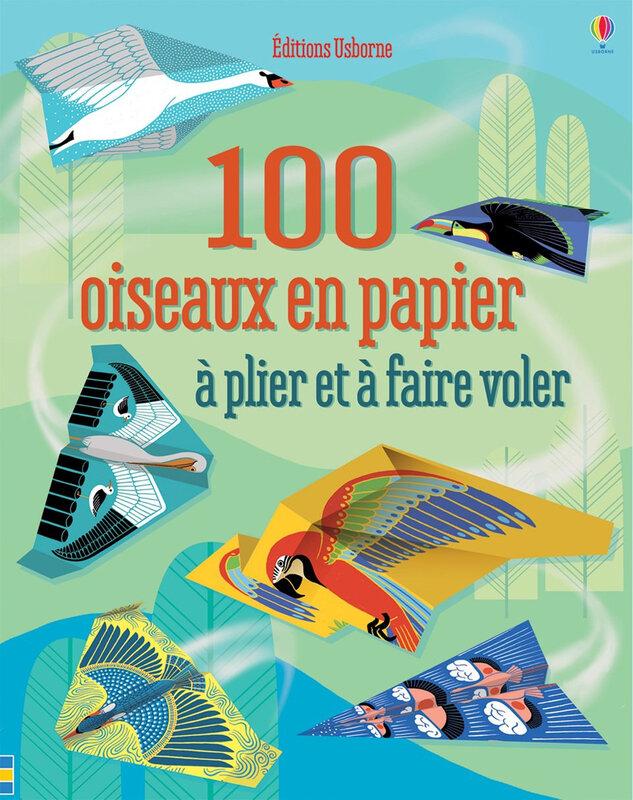 100 oiseaux en papiers