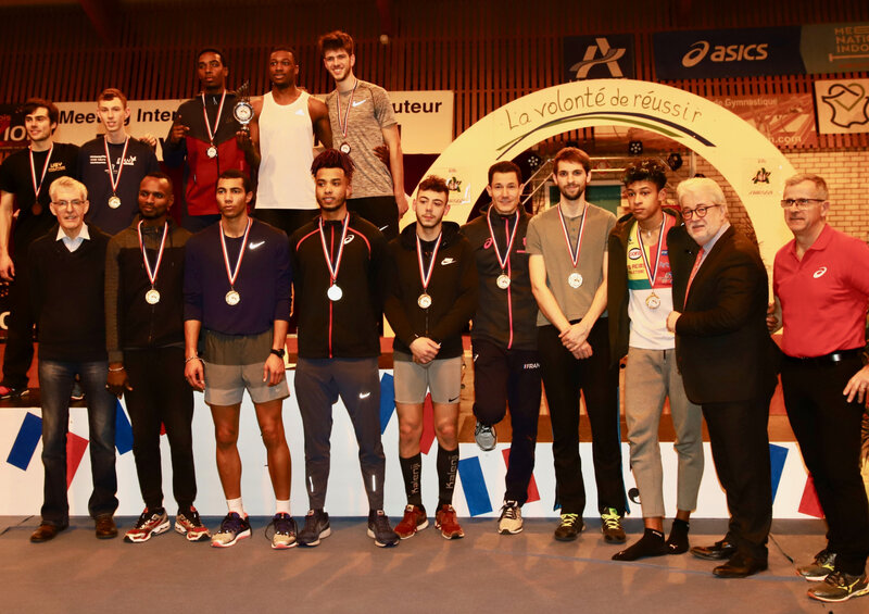 MEETING SAUT HAUTEUR NATIONAL 2019 masculin podium