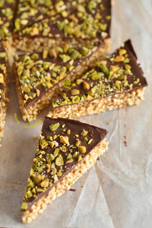 Bouchées de quinoa soufflé, topping chocolat & pistaches_11