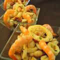 Salade de Coco de Paimpol, moules et encornets