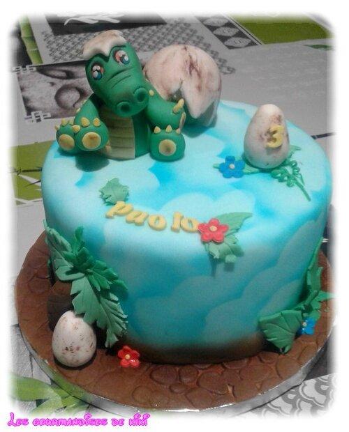 Gâteau dinossaure