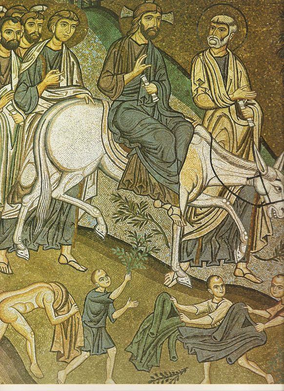 Entrée à Jerusalem - PALERME - Chapelle Palatine