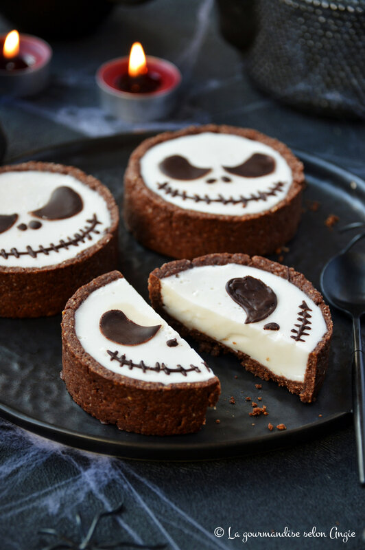 tarte chocolat panna cotta coco halloween vegan jack skellington (1)