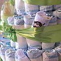 GATEAU DE COUCHES - DEAPER CAKE - BABY SHOWER ( CADEAU NAISSANCE OU BAPTEME) (5)