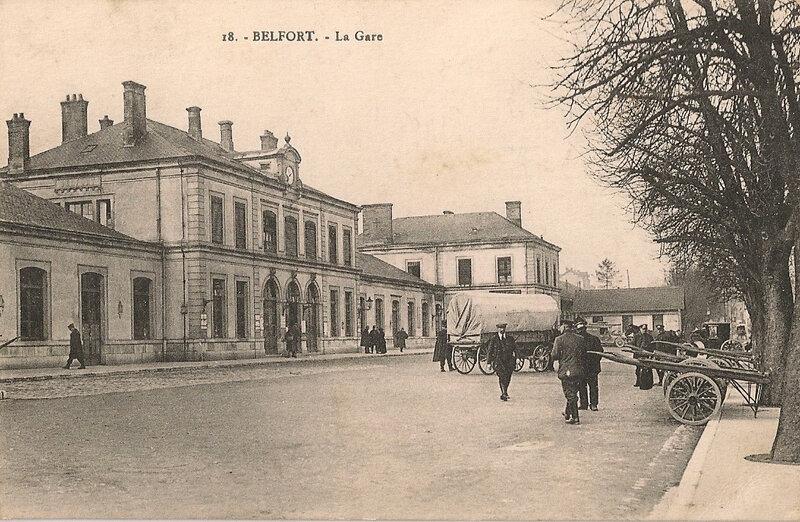Belfort CPA Av Gare n°4X Gare Cour Sans 18