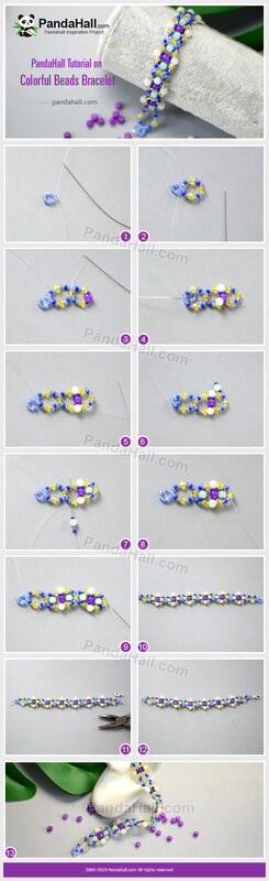 5-PandaHall-Tutorial-on-Colorful-Beads-Bracelet