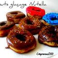 Des donuts glacés au nutella pour mardi-gras.