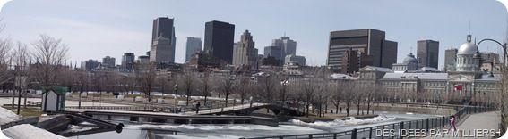 Vue sur Montréal du Quai J Cartier