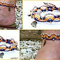 REF Pi 0005 bracelet jaune violet