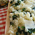 Risotto chevre-epinards