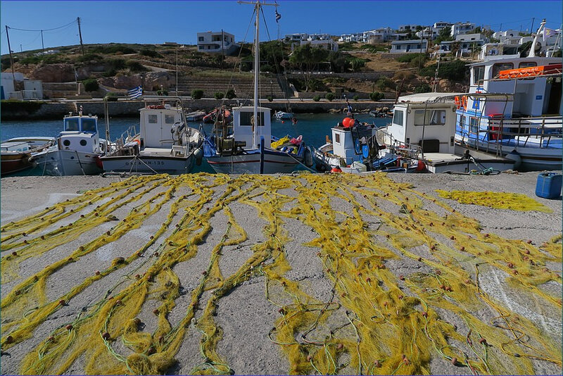 Donoussa filets de pêche