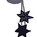 Charlypopette : mobile lune et étoiles en tricot...