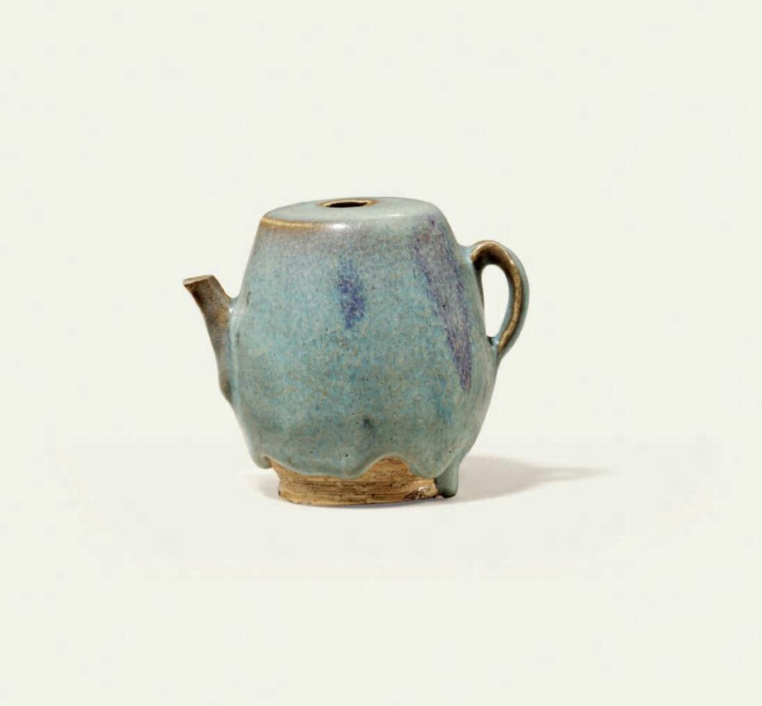 A purple-splashed Jun ewer, Ming dynasty (1368-1644)