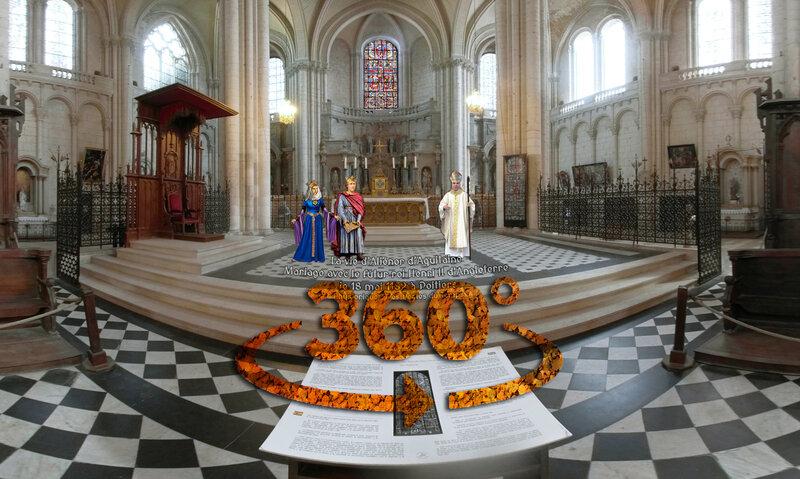 La vie d'Aliénor d'Aquitaine – Mariage avec le futur roi Henri II d'Angleterre le 18 mai 1152 cathédrale de Poitiers