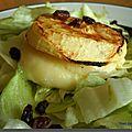 Crottin de Chavignol sur Canapés de Pommes