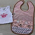 kit bébé EMY bavoir et body personnalisé
