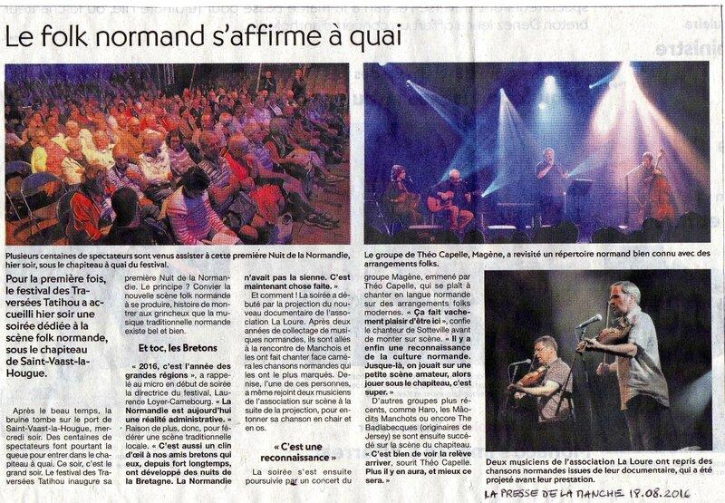 Nuit de la Normandie Saint-Vaast-la-Hougue(La Presse de la Manche 18