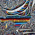 BERLIN, East Side Gallery, détail de la fresque de Gamel Gimajew (Allemagne)