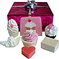 Coffret de bain rose tendresse