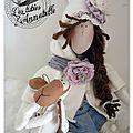 Mon projet réalisé !!! ma poupée winter....