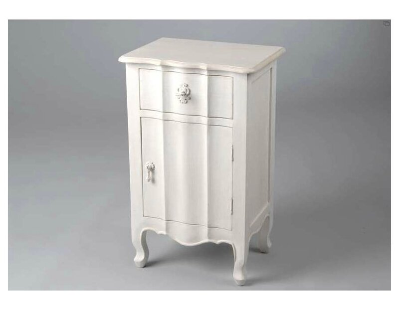 table de chevet amadeus patine blanc elegance