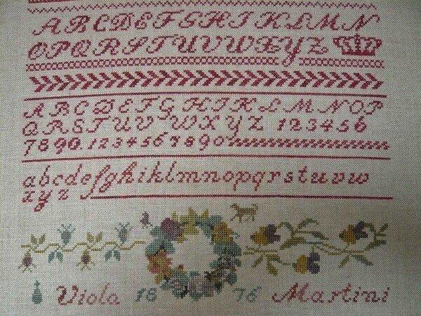 Viola Martini 1876, brodé par Bénédicte
