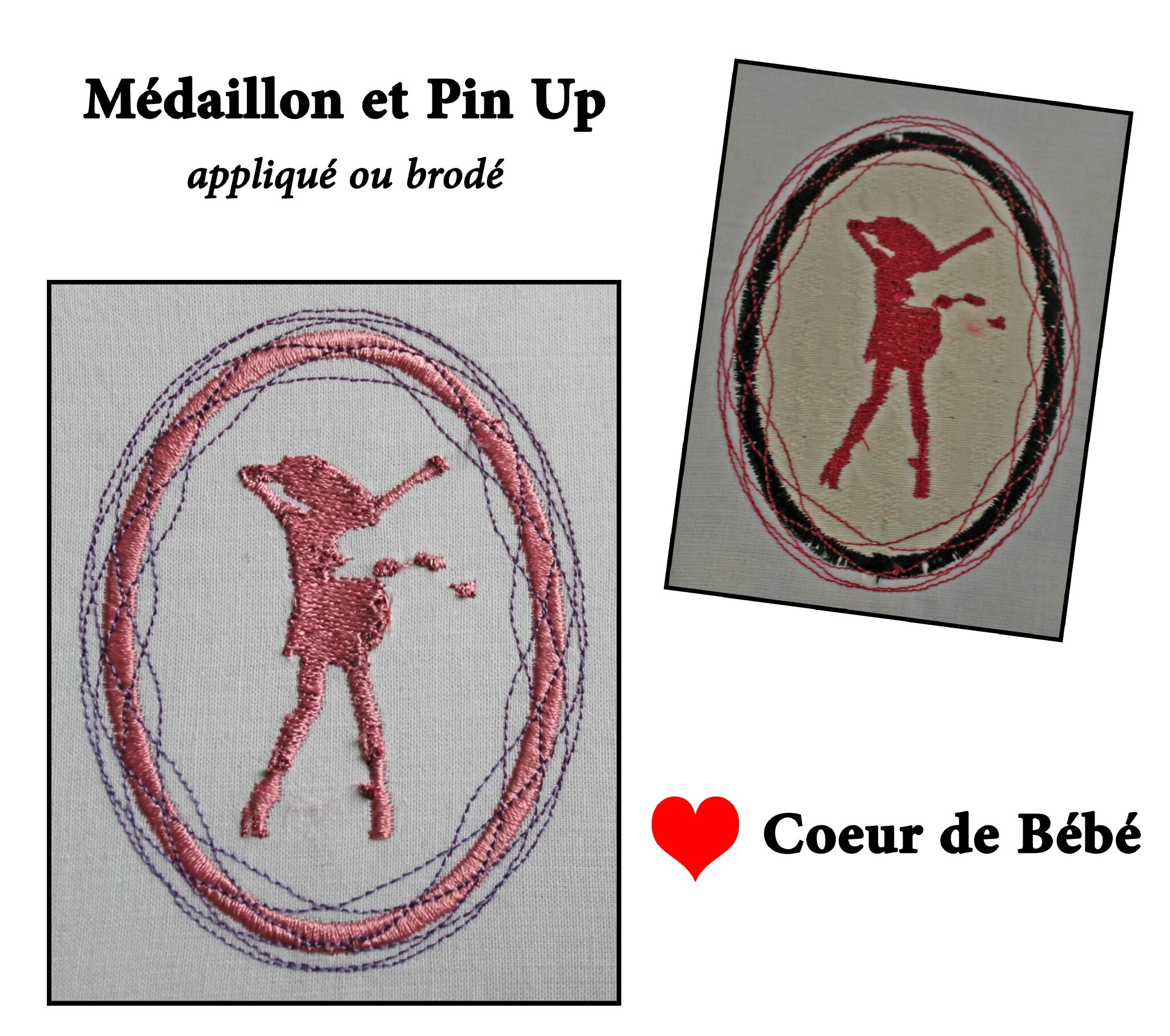 Médaillon et Pin-up