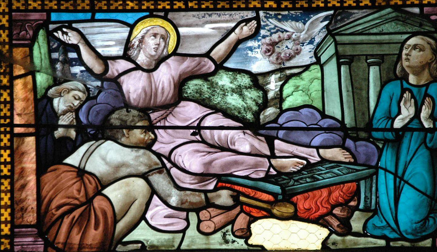 Le martyr par le Feu de Ste Foy d'Agen