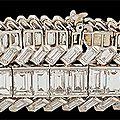 Circa 1950's cartier platinum diamond bracelets
