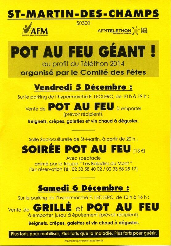 Telethon 2014 Saint-Martin des Champs pot-au-feu