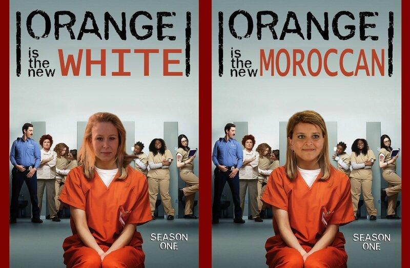 ORANGE WHITE MOROCCAN