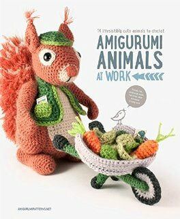 amigurumi animals at work