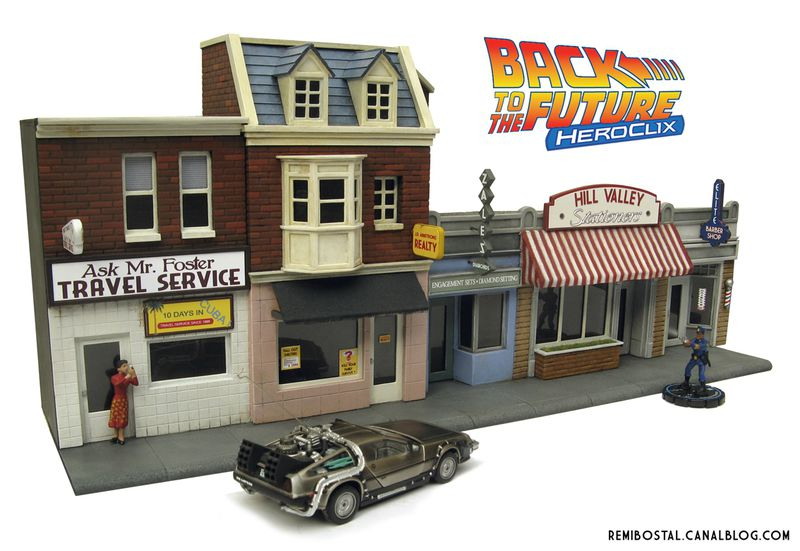Hill Valley main street back to the future bttf heroclix remi bostal scenery miniature (1)