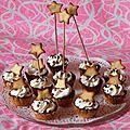 Minis cupcakes étoilés au crémage mascarpone