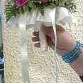 Bouquet de Mariée collerette et satin