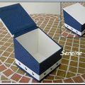 Boîte à disques démaquillants (carton de récup)