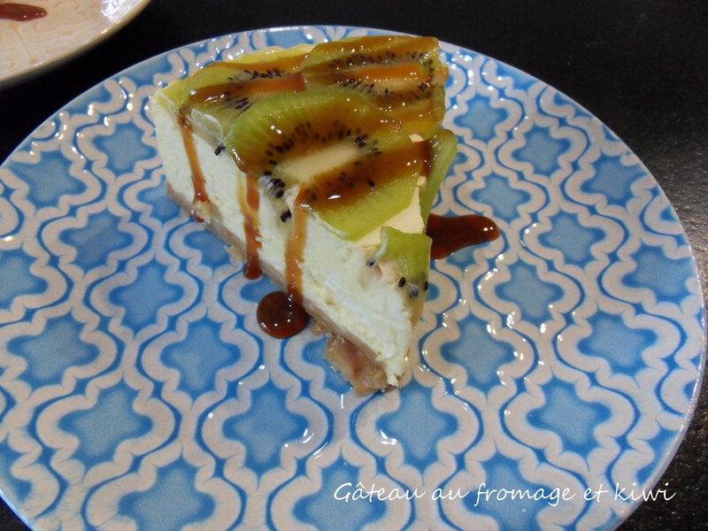 gâteau au fromage et kiwi 1