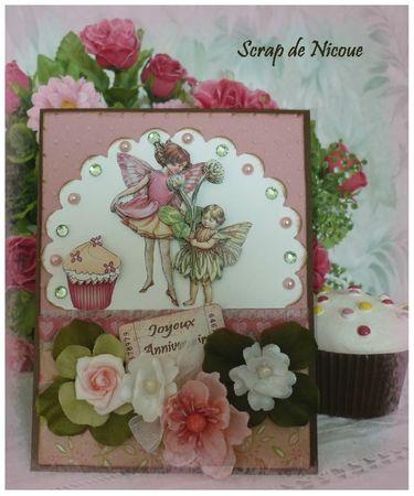 Carte flower fairy - cupcake