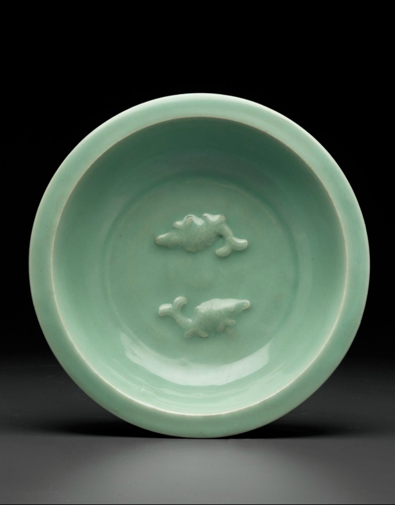 A Longquan celadon  'Twin fish' dish, Late Southern Song-Yuan dynasty, 13th-14th century