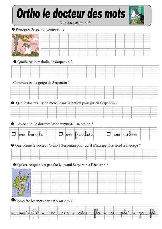 ortho 6 exercices baptiste