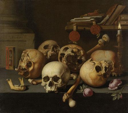 Aelbert Jansz van der Schoor Vanitas Still Life (Skulls on a Table) 1660 Copyright Rijksmuseum Amsterdam