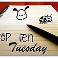 Top ten tuesday 14