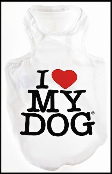 i love my dog debardeur chien 2