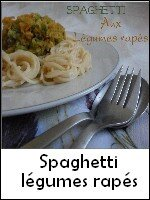 spaghetti légumes rapés weight watchers