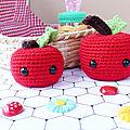 Mes petites pommes au crochet ♥